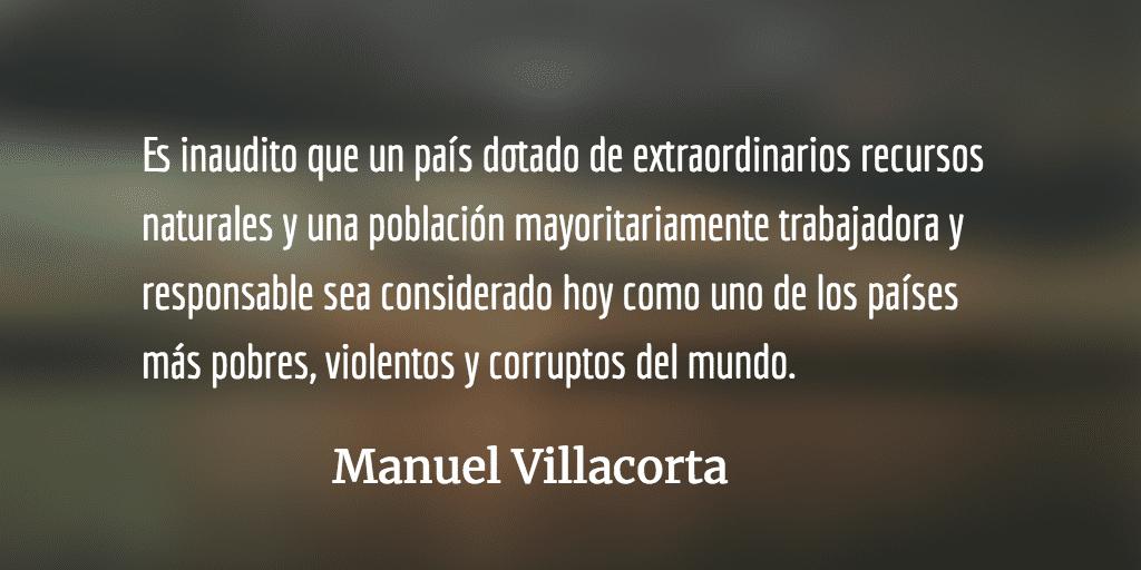 La revolución política, único camino. Manuel Villacorta.