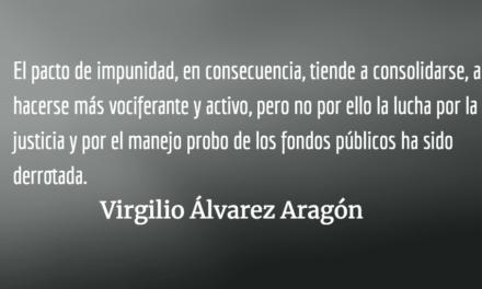 Pacto por la impunidad. Virgilio Álvarez Aragón.