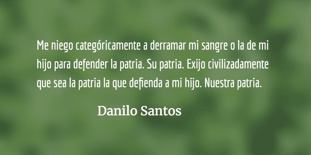 Yo no soy terrorista. Danilo Santos.