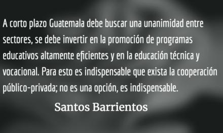 Cómo alcanzar un crecimiento inclusivo en Guatemala. Santos Barrientos.