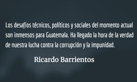 La hora de la verdad contra la corrupción. Ricardo Barrientos.