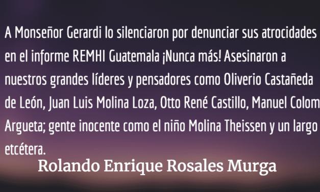 La pesadilla vuelve. Rolando Enrique Rosales Murga.