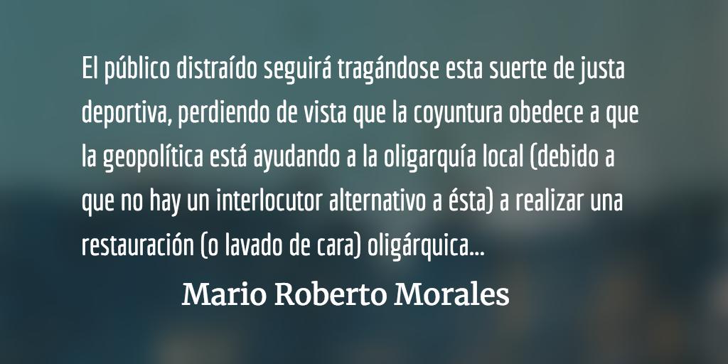 El triunfal foro de la vergüenza. Mario Roberto Morales.