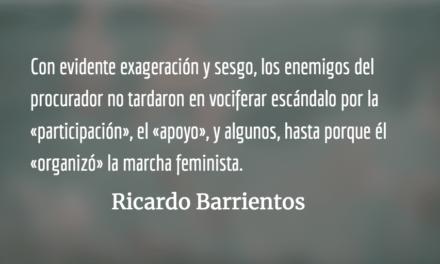 Apoyo al procurador. Ricardo Barrientos.