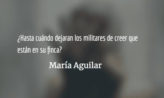 Tres intentos por justicia. María Aguilar.