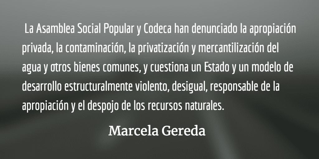 Solidaridad en la lucha. Marcela Gereda.