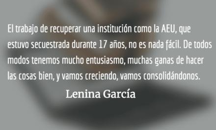 Entrevista a Lenina García, Secretaria General de la AEU, Guatemala: «Queremos que la población pueda volver a confiar en el movimiento estudiantil»