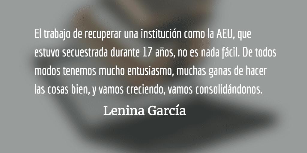 """Entrevista a Lenina García, Secretaria General de la AEU, Guatemala: """"Queremos que la población pueda volver a confiar en el movimiento estudiantil"""""""