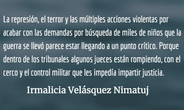 ¿Dónde están las y los niños de la guerra? Irmalicia Velásquez Nimatuj