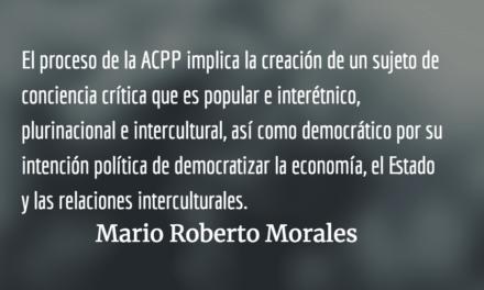 Qué es lo plurinacional-popular. Mario Roberto Morales.