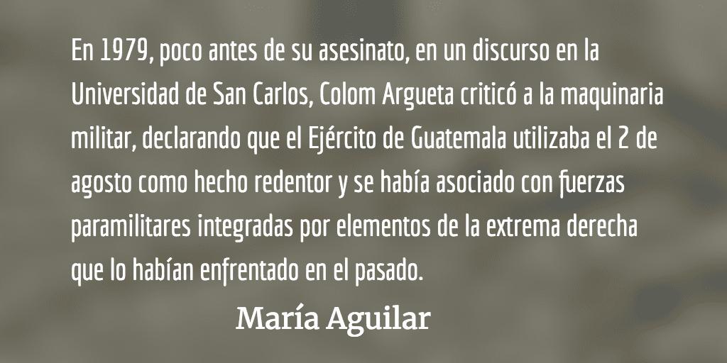 Benedicto Lucas García. María Aguilar.