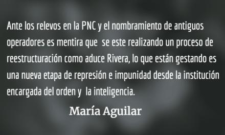 Estamos ante una dictadura naciente. María Aguilar.