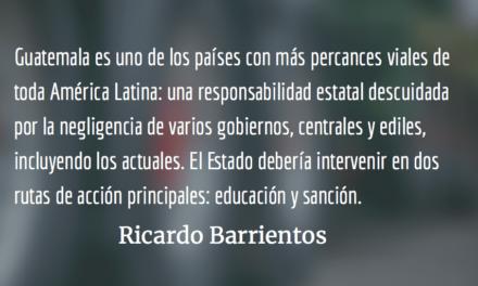 ¡No más tragedias viales! Ricardo Barrientos