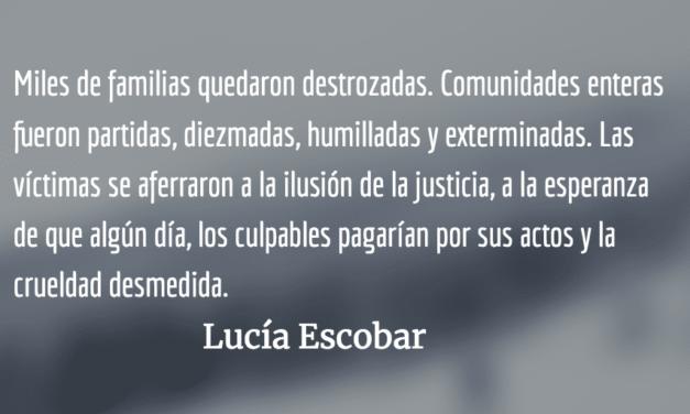 QEPD tus muertos. Lucía Escobar.