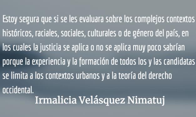 Un Fiscal General intachable. Irmalicia Velásquez Nimatuj.