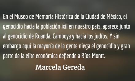 """""""Voltear la página"""" y Ríos Montt. Marcela Gereda."""