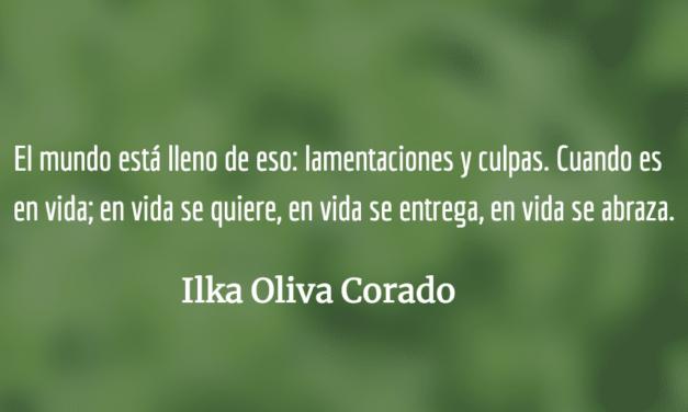 Flores en el camposanto. Ilka Oliva Corado.