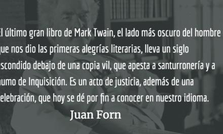 El libro negro de Mark Twain. Juan Forn.