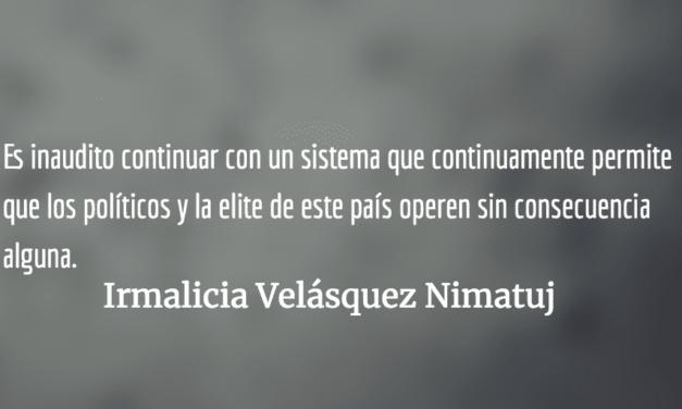 Luis Galich agoniza mientras el CACIF se enriquece con la corrupción. Irmalicia Velásquez Nimatuj.