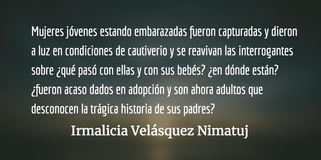 Caso Molina Theissen: un homenaje a los niños desaparecidos. Irmalicia Velásquez Nimatuj.