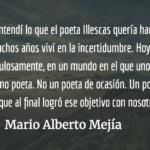 Carlos Illescas: el poeta que descubrió el fuego. Mario Alberto Mejía.