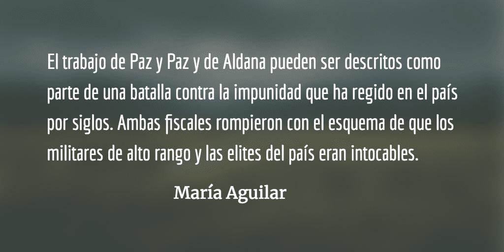 Las tres fiscales. María Aguilar.