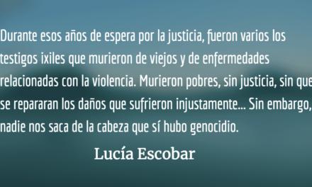 Sentencia vigente: culpable. Lucía Escobar.