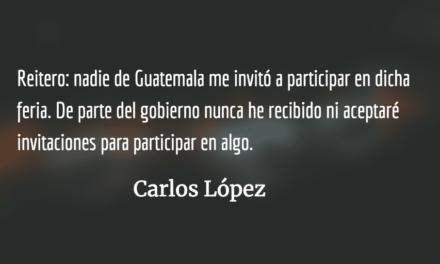 Aclaración de Carlos López a una nota en elPeriódico