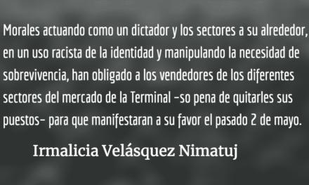 La manipulación de los vendedores de la Terminal. Irmalicia Velásquez Nimatuj.
