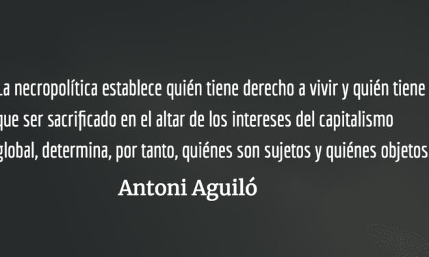 Necropensiones. Antoni Aguiló.