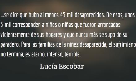 Desaparecidos. Lucía Escobar.