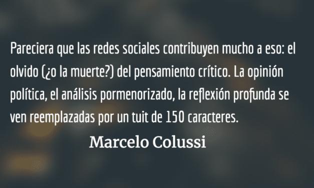 Influencia del neoliberalismo en las nuevas generaciones. Marcelo Colussi.