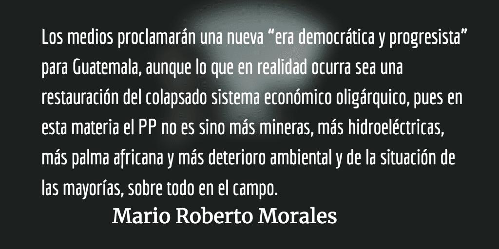 """Empezará """"Nueva era democrática"""". Mario Roberto Morales."""