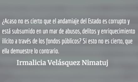 Sandra Jovel: la vocera del gobierno represivo de Morales. Irmalicia Velásquez Nimatuj.
