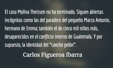 El caso Molina Theissen, incógnitas irresueltas. Carlos Figueroa Ibarra.