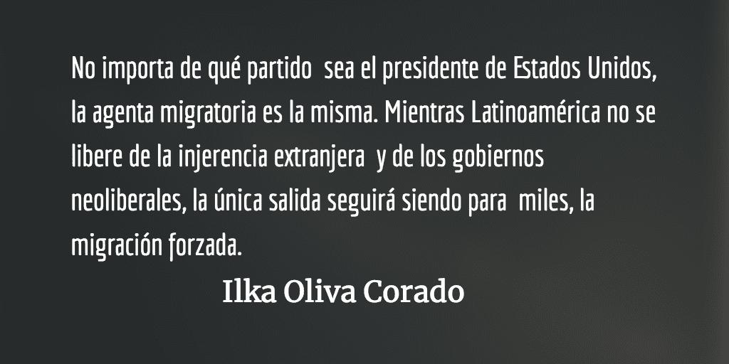Migrar muertos en vida para morir mil veces más. Ilka Oliva Corado.