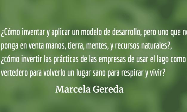 Bajarnos del tren del progreso. Marcela Gereda.