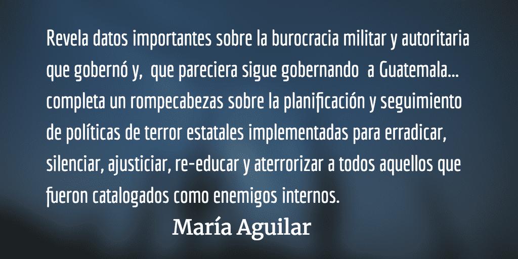 Archivos y derechos humanos. María Aguilar.