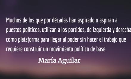 En medio de un proceso extractivo de votos. María Aguilar.