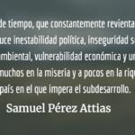 ¿Desarrollo sostenible? Samuel Pérez Attias