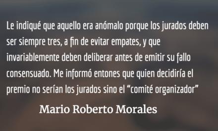 Entuertos y talleres literarios. Mario Roberto Morales.