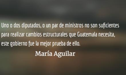 La desmemoria y el futuro político. María Aguilar.
