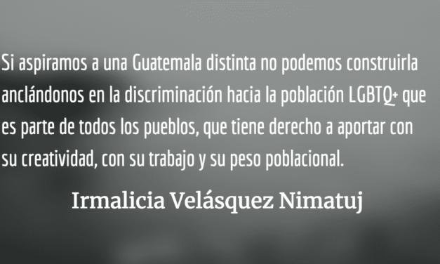 La juventud LGBTQ+ tiene derecho a una vida plena. Irmalicia Velásquez Nimatuj.