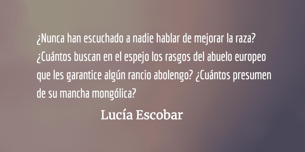 Racismo en la sopa de letras. Lucía Escobar.