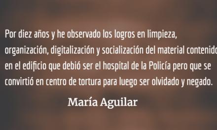 El PNUD y el Archivo de la Policía. María Aguilar.