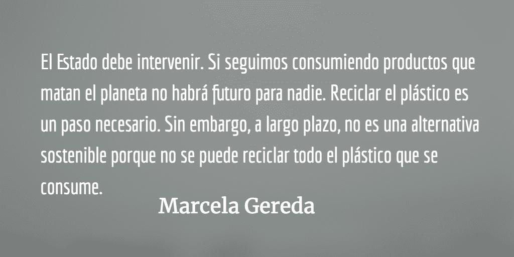 El plástico: uno de los desafíos del siglo 21. Marcela Gereda.