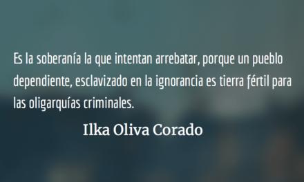 Destruir al progresismo y a sus líderes. Ilka Oliva Corado.