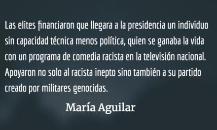 La normalización del autoritarismo. María Aguilar.