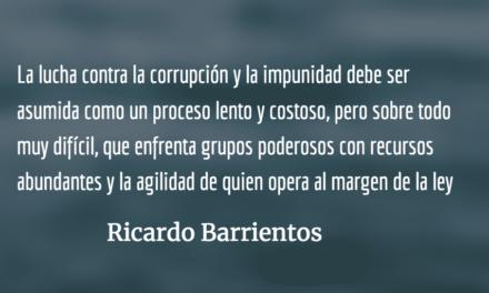 Corrupción en el Organismo Judicial. Ricardo Barrientos.