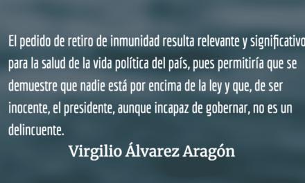 Hora de abrir la cloaca, señores diputados. Virgilio Álvarez Aragón.